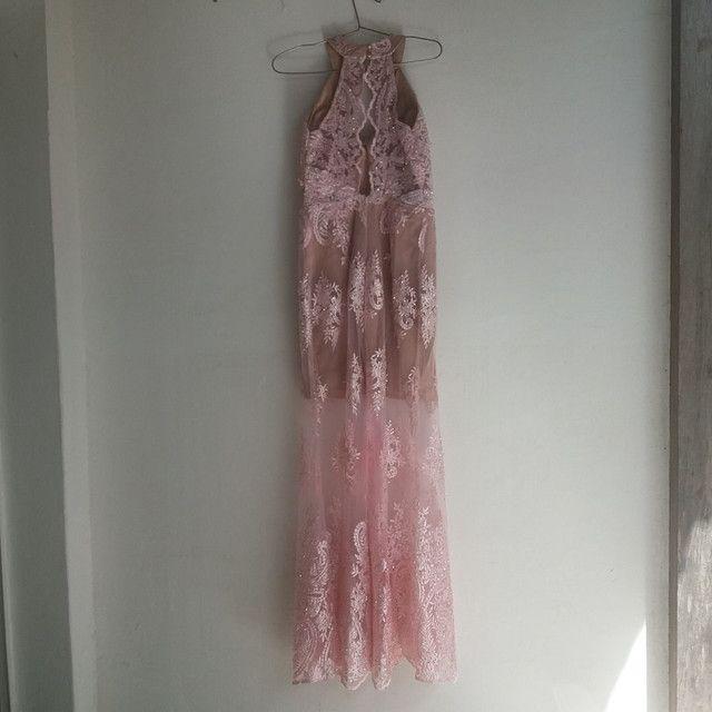 Vestido longo Rosé - Foto 2