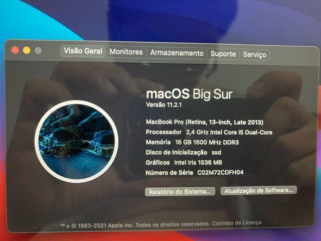 MacBook Pro retina 16gb ram fim de 2013 500gb ssd - Foto 4