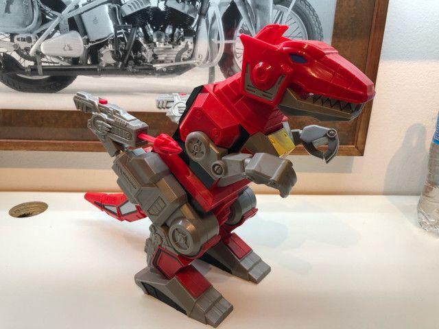 Imaginext  Vermelho Zord T Rex Cjp64 para boneco power ranger batalha