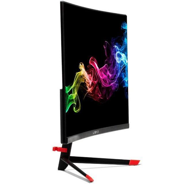 Monitor Gamer Warrior LED 23.6´ Full HD, Curvo, HDMI/DisplayPort, FreeSync, 144Hz, 1ms - Foto 3