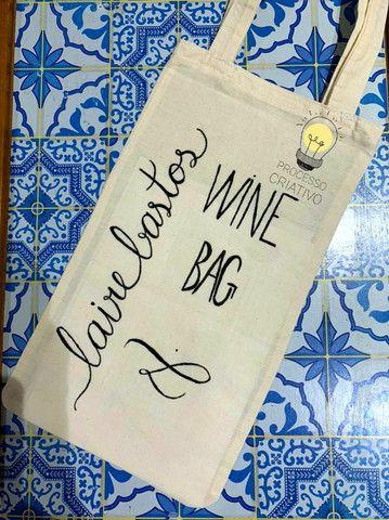 Porta vinho personalizado 15.00 - Foto 2