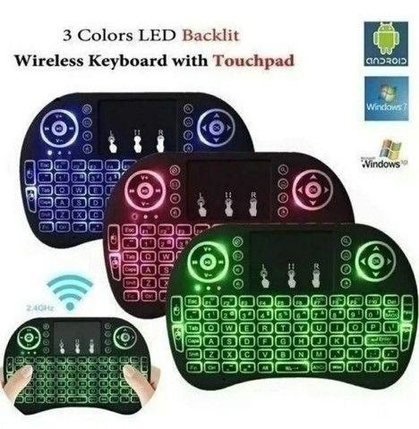 Mini controle s/fio touch led PC /note / gamer/tvbox/tvsmart - Foto 3