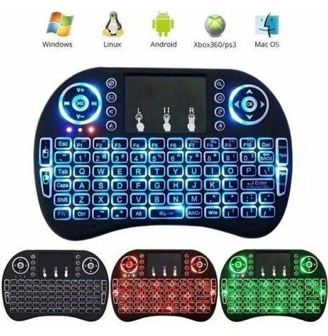 Mini controle s/fio touch led PC /note / gamer/tvbox/tvsmart - Foto 2