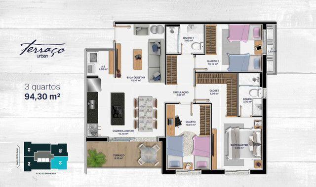 AP na Orla 14, Praia da Graciosa - 94,30 m² - 3 quartos - Ed. Terraço Urban - Foto 7