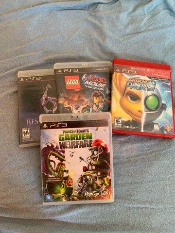 4 jogos semi novos ps3 - original