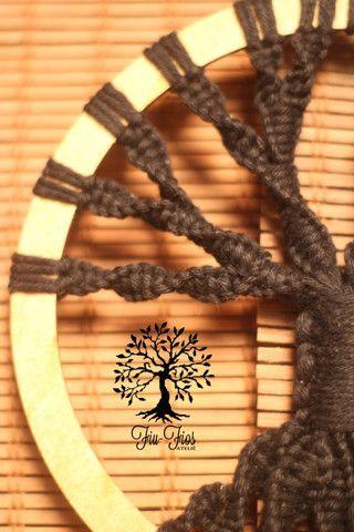 Filtro dos Sonhos em Macramê Árvore da Vida - Foto 3