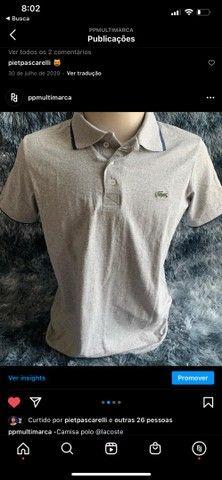 camisa masculina polo de grife marca  - Foto 2