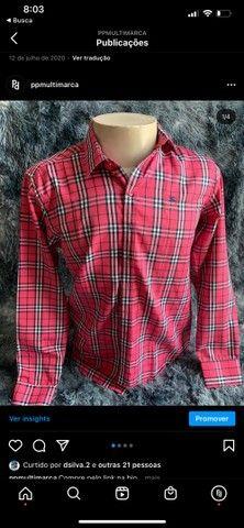 camisa social masculina listrada de grife