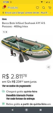 Bote inflável Intex SEAHAWK 4 pessoas. - Foto 2
