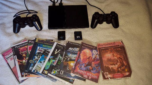 Ps 2, 2controles, 2 memoria card