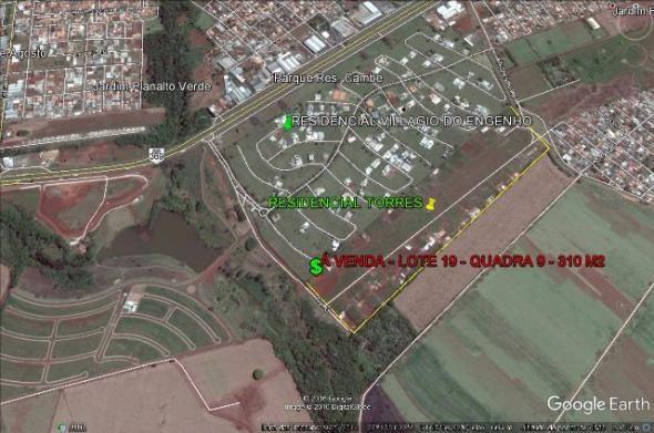 Terreno Residencial Torres - Cambé (PR) Atrás Villagio do Engenho 310 m2