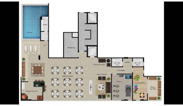 2 e 3 QUARTOS - ALTO PADRÃO - Apartamento em Lançamentos no bairro Praia da Cost... - Foto 16