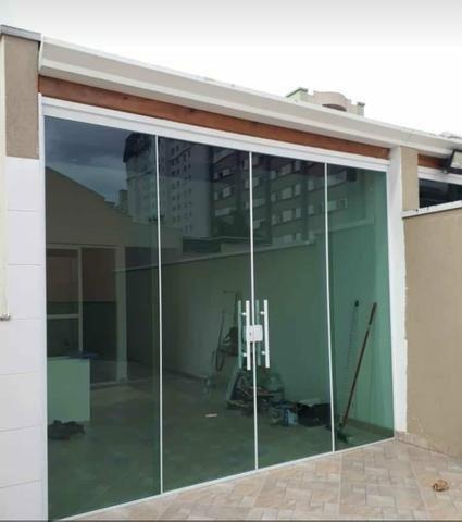 Fabricamos sobre medidas portas janelas em vidro temperado incolor verde fumê - Foto 4