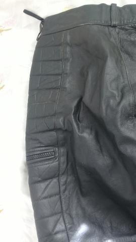 Calça motococlista de couro legitimo (40) - Foto 4