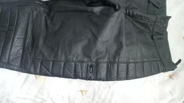 Calça motococlista de couro legitimo (40) - Foto 6