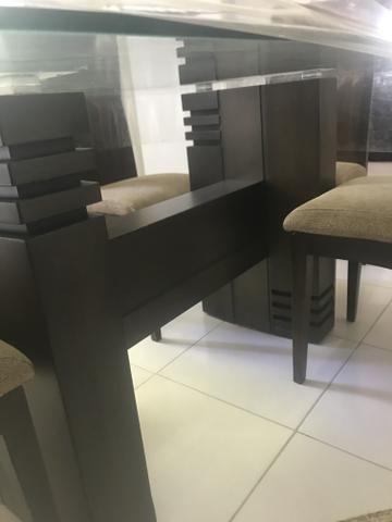 Mesa de vidro com 6 cadeiras - Foto 5