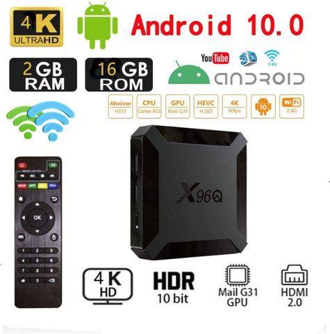 Smart box Android 10.0 X96q 4k Hdmi Hd 16gb Ram 2gb Wifi Integente - Foto 5