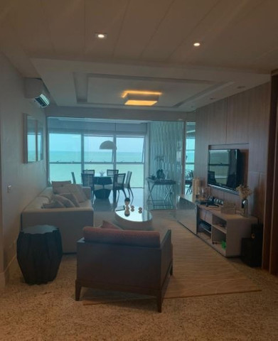 Apartamento espetacular frente mar, com 3 suítes, na Av. Atlântica, centro Bal. Camboriu - Foto 4