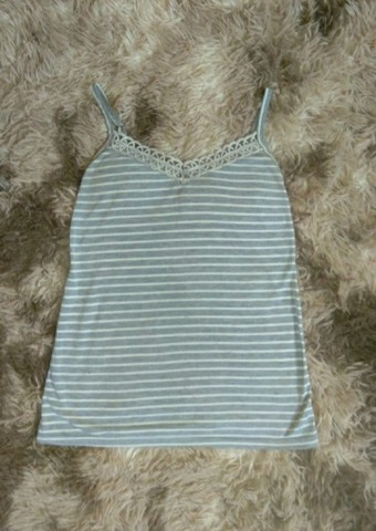 blusa cinza listrada