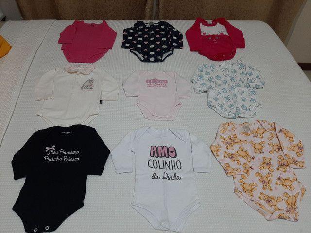 Vendo Combo de Roupinhas de bebê Menina (Semi Novas) - Foto 3