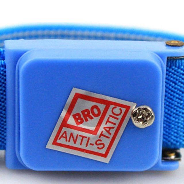 Pulseira Proteção Anti Estática Profissional Sem Fio - Azul - Foto 3