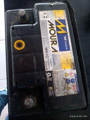 Bateria Moura 60 amperes usada 150$ - Foto 4