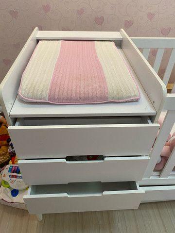 Berço multifuncional com cama auxiliar  - Foto 4