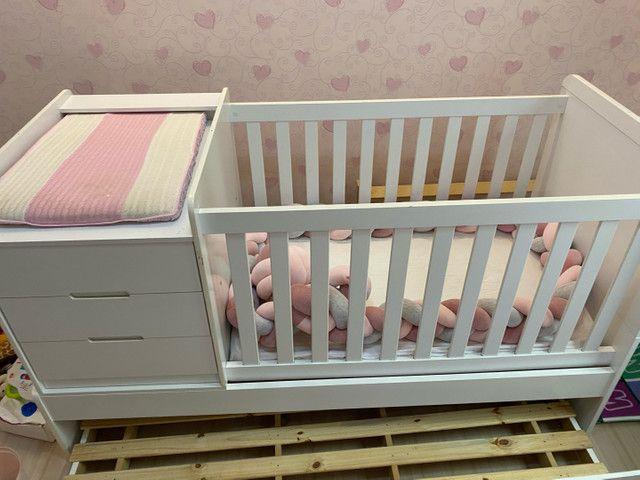 Berço multifuncional com cama auxiliar  - Foto 2