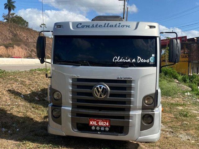 Caminhão caçamba 24250, ano 2009/2009. Preço 180.000 mil