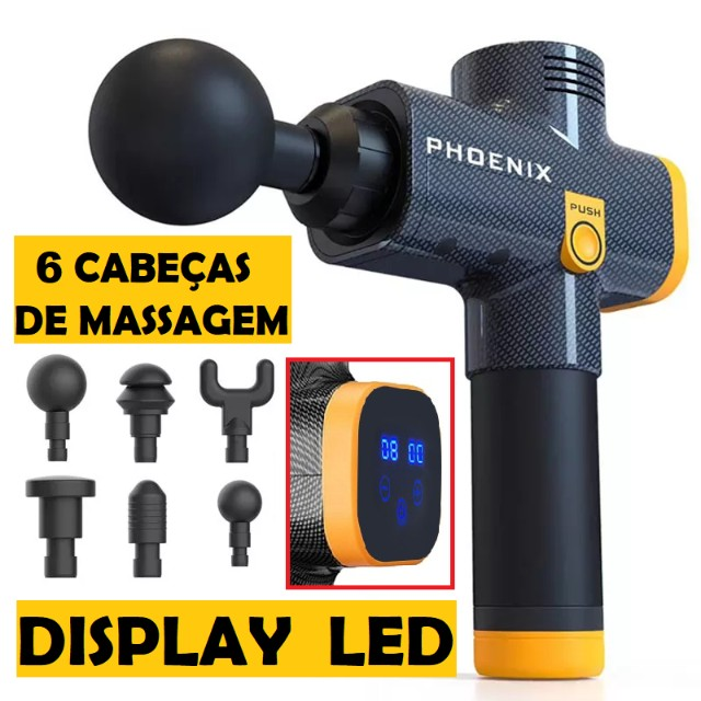 Phoenix A2 Pistola Massageadora - Massagem Profissional