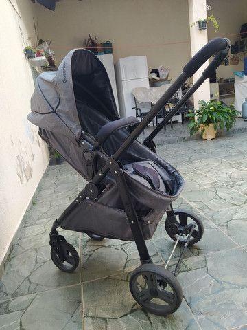 Carrinho de bebê moises com bebê conforto - Foto 3