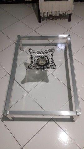 Mesa de centro tampo de vidro