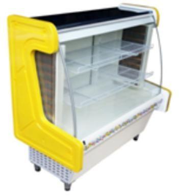 Vitrine refrigerada confeitaria 1200 termoformada