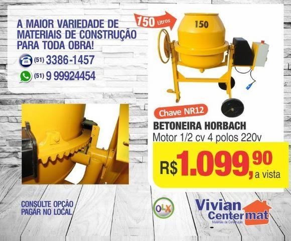 Betoneira Horbach capac. 150 litros 1/2 hp
