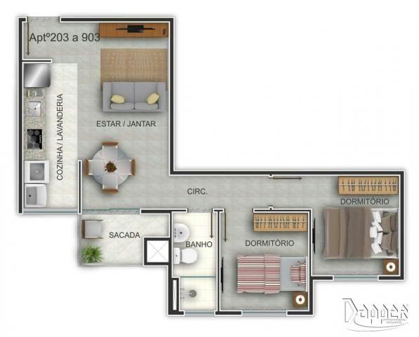 Apartamento à venda com 2 dormitórios em Ideal, Novo hamburgo cod:15322 - Foto 5