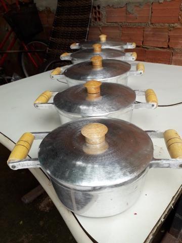 Panela de alumínio batido grosso - Foto 2