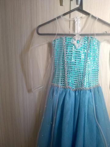 Vestido Da Elsa Do Frozen