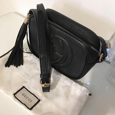 6cb186f2e Bolsa Gucci Soho Disco Preta - Bolsas, malas e mochilas - Cremação ...