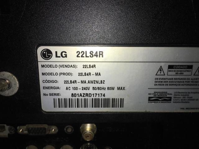 Tv Monitor LG não está ligando