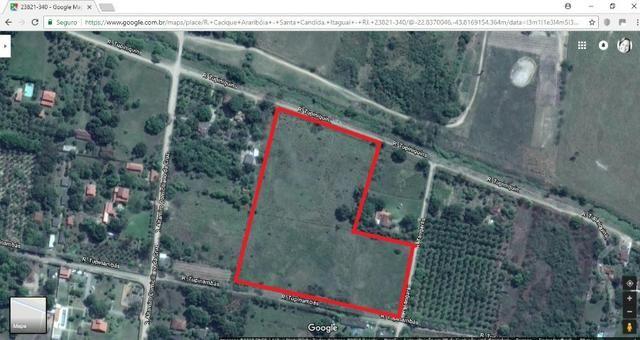 Terrenos com 1600 e 2100 m² plano - Documentado - Santa Cândida - Itaguaí - Foto 5