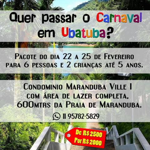 Carnaval em apto em Ubatuba