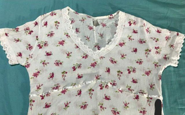 Camisa feminina de malha canelada social - Foto 3