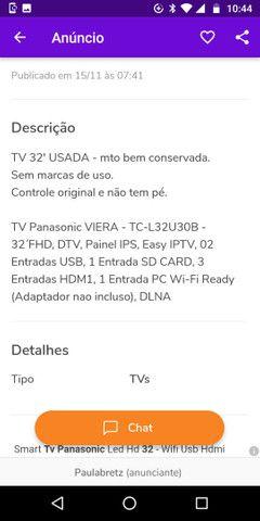 Tv Panasonic 32 Viera - Foto 3