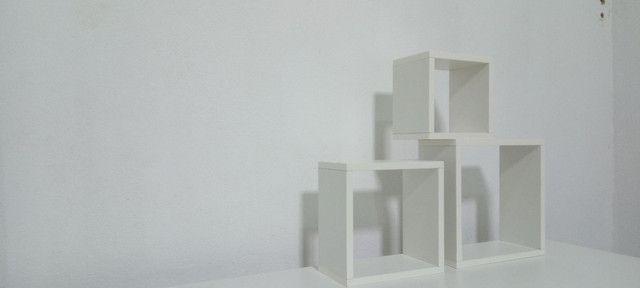 Kit com 3 nichos 100% MDF branco - Foto 2