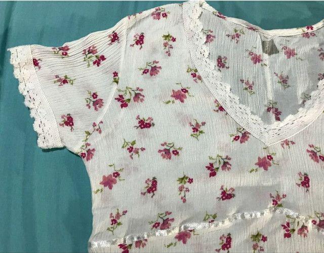 Camisa feminina de malha canelada social - Foto 5