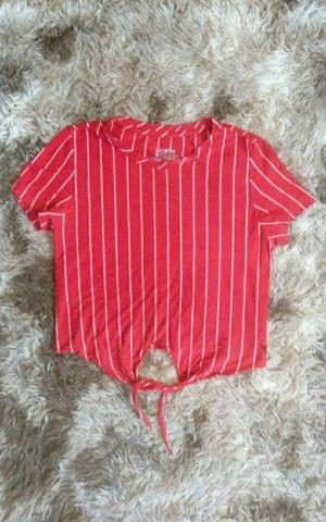 blusa vermelho listrado