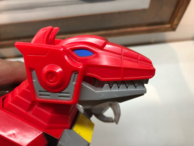 Imaginext  Vermelho Zord T Rex Cjp64 para boneco power ranger batalha  - Foto 5
