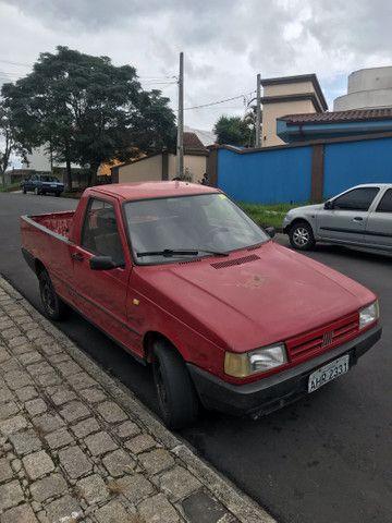 Pick-up Fiat Fiorino 1988 vermelha  R$7500.00 troco por moto maior valor - Foto 2
