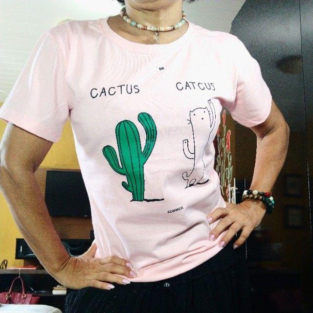 Camiseta tshirt baby look feminina - Foto 2