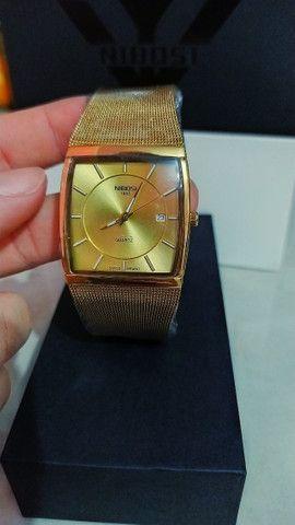 Relógio Feminino Original Nibosi Promoção Aço Inox + Caixa - Foto 4